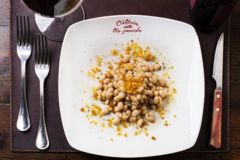 Zolfini beans and mullet botargo