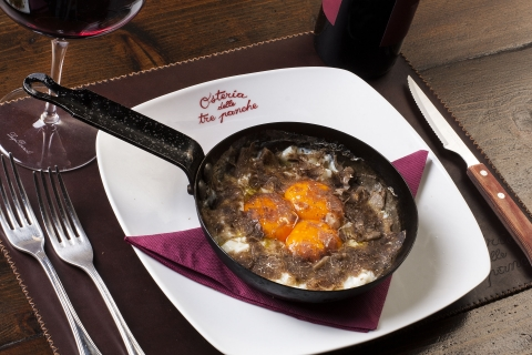 Fried eggs with Truffle