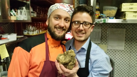 VIeri & Andrea with white truffle